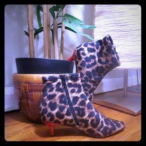 Leopard Print Ankle Bootie